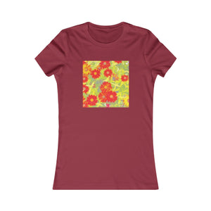 Flower Power Pop Art Feminine Cotton T