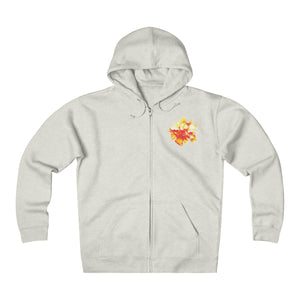Hibiscus Log Unisex Heavyweight Fleece Zip Hoodie