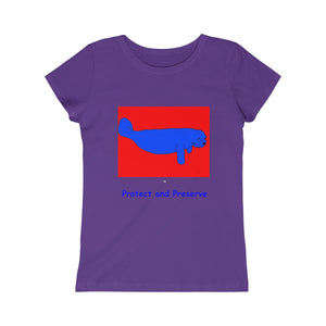 """Protect and Preserver"" Manatee Girls Tee"