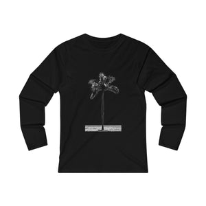 Royal Palm - Women's Fitted Long Sleeve Tee