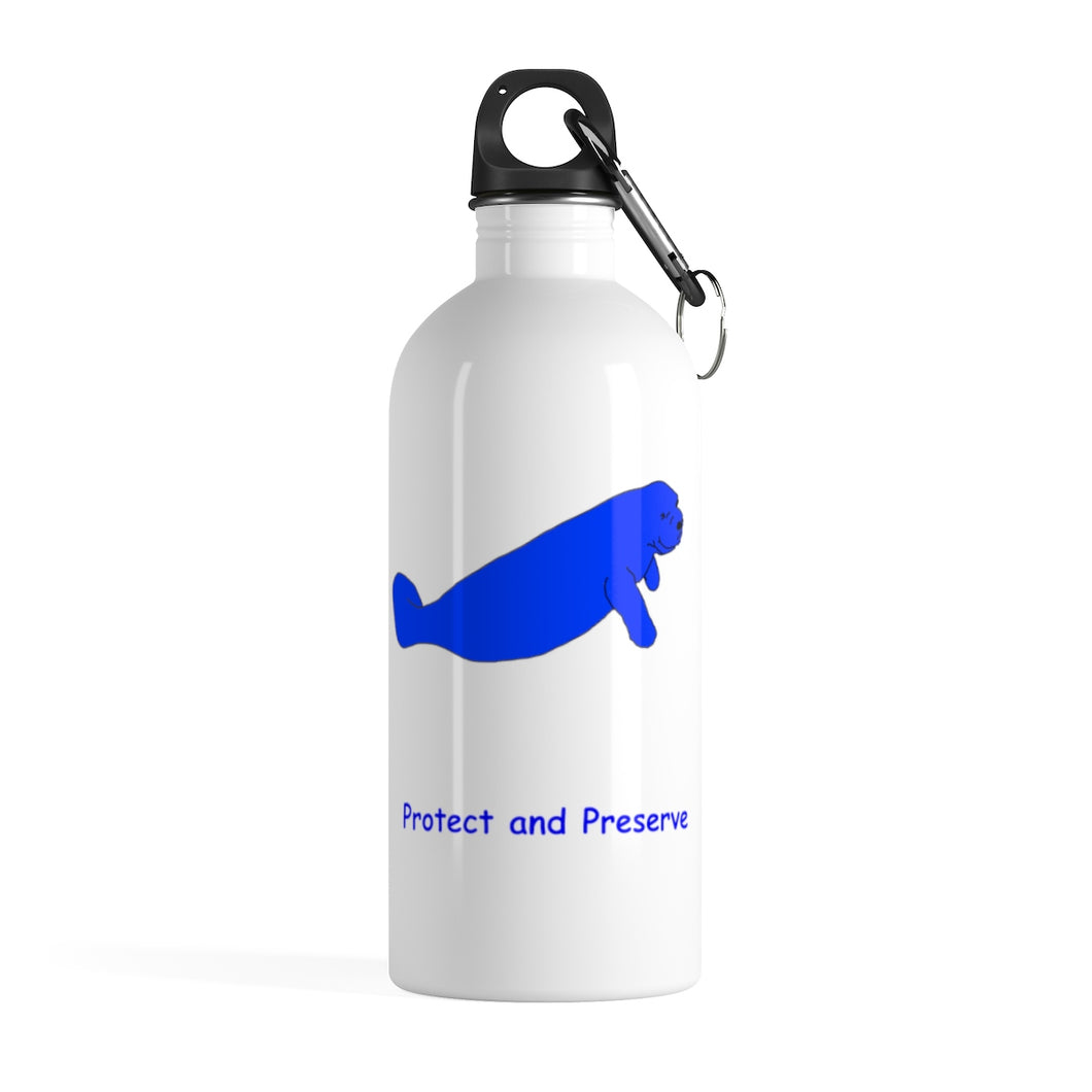 Protect and Preserve Manatee - Stainless Steel Water Bottle