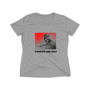 """Compete and Beat"" - Women's Heather Wicking Tee"