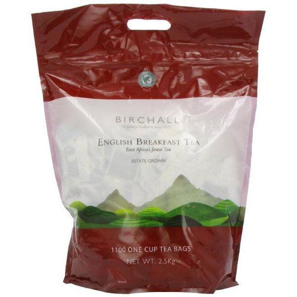 Birchall Fairtrade English Breakfast Tea - 1100 One Cup Tea bags