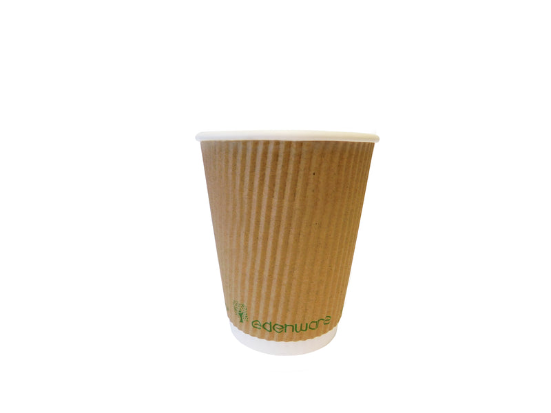 8oz Compostable Ripple take away cups (500pk)