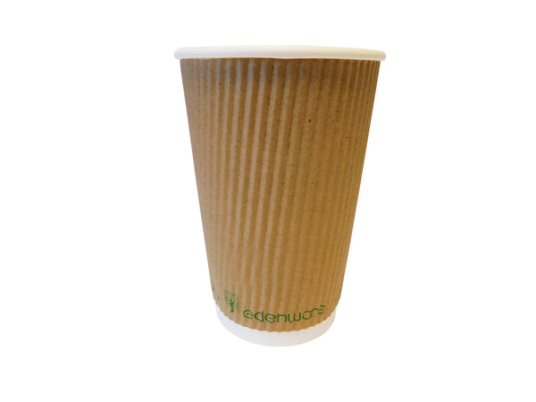 16oz Compostable Ripple take away cups (500pk)