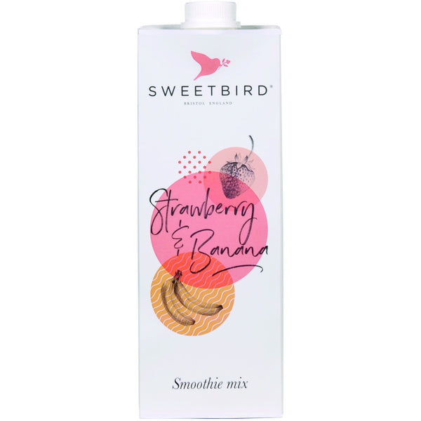 Sweetbird Strawberry and Banana Smoothie 1 Litre
