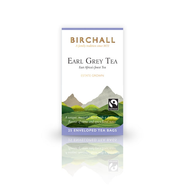 Birchall Earl Grey Tea  25 Tagged & Enveloped Tea Bags