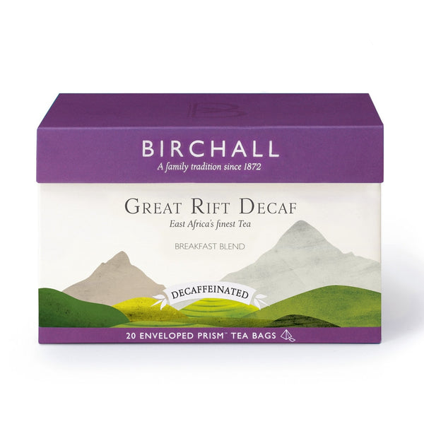 Birchall Great Rift Decaf - 20 Enveloped Prism Tea Bags RFA