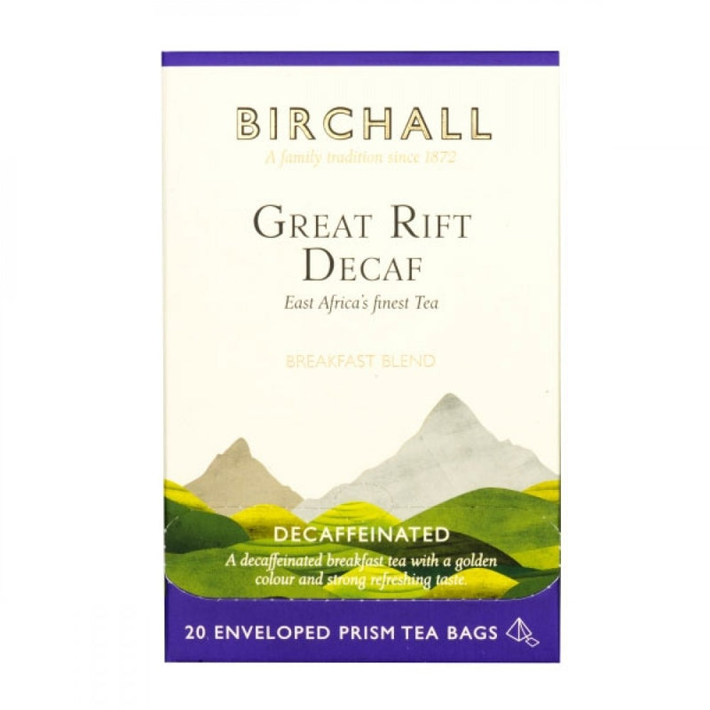 Birchall Great Rift Decaf 20 Enveloped Prism Tea Bags