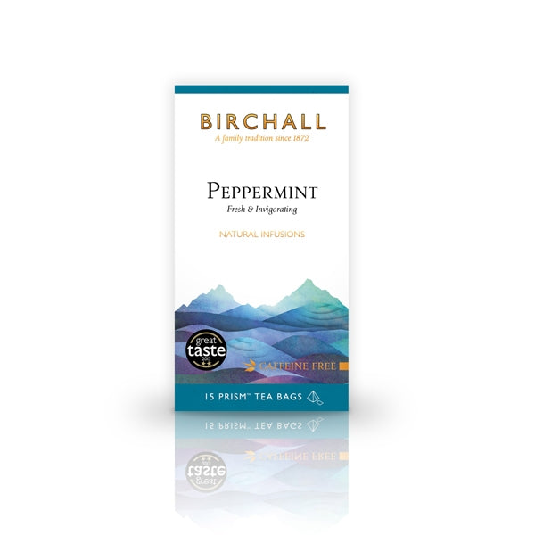 Birchall Peppermint - 15 Prism Tea Bags