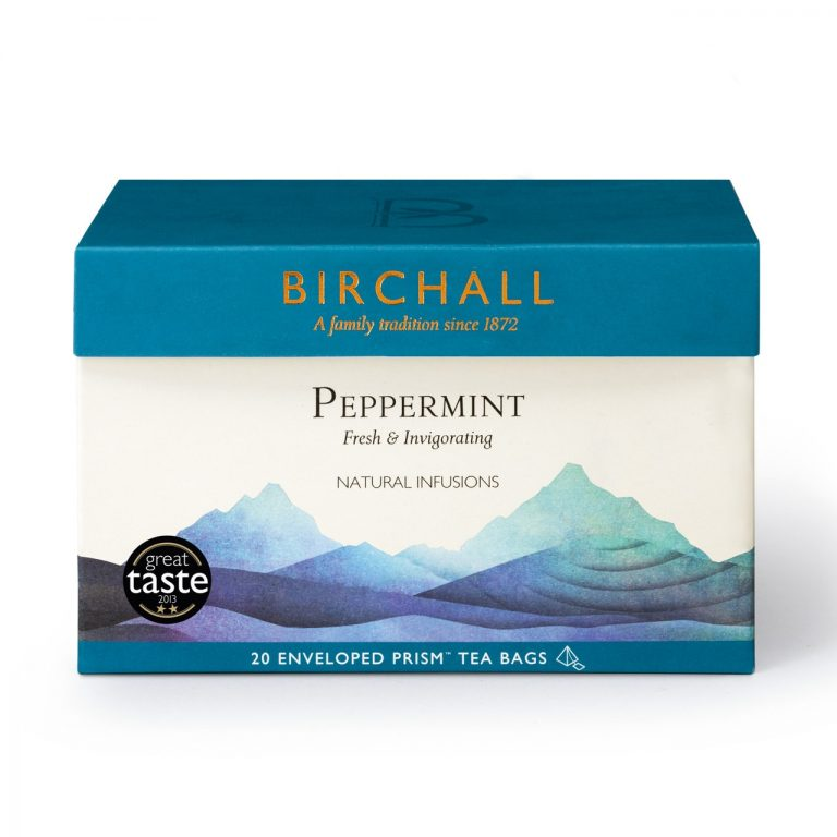Birchall Peppermint - 20 Enveloped Prism Tea Bags