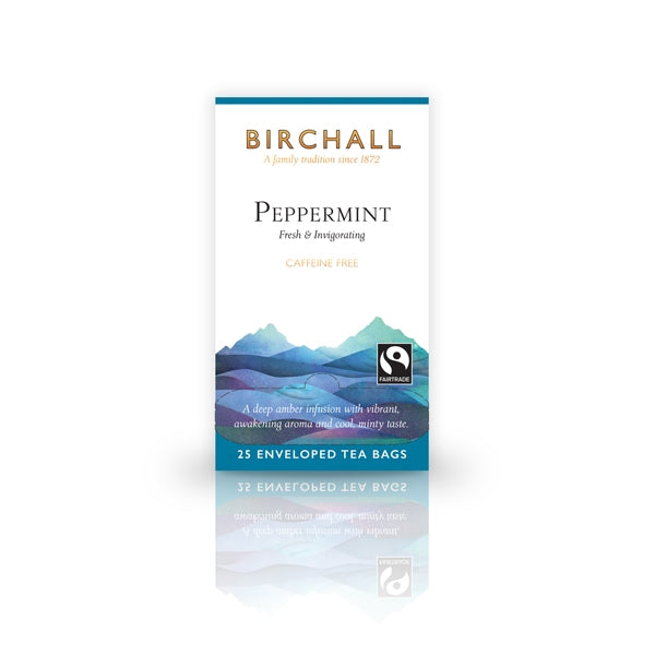 Birchall Peppermint  25 Tagged & Enveloped Tea Bags