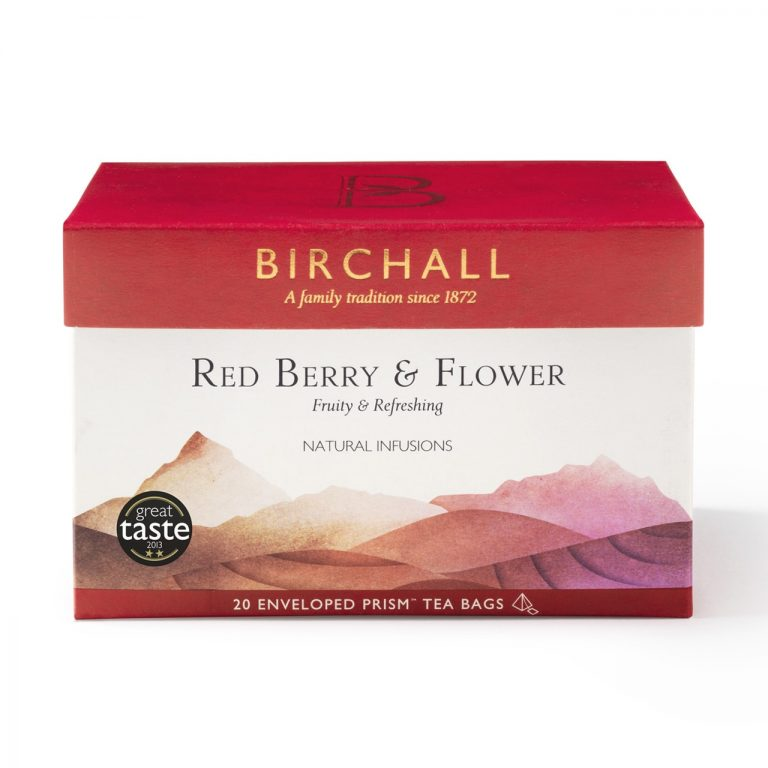 Birchall Red Berry & Flower - 20 Enveloped Prism Tea Bags