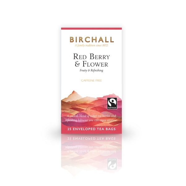 Birchall Red Berry & Flower 25 Tagged & Enveloped Tea Bags