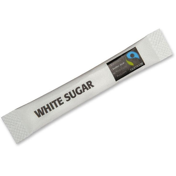 Fairtrade Sugar Sticks, White - Case of 1,000