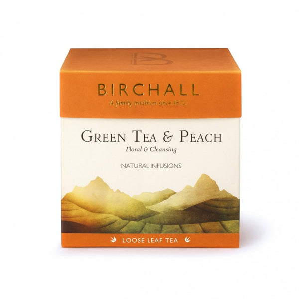 Birchall Green Tea and Peach - 125g Loose Leaf Tea
