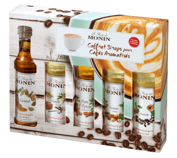 Monin Coffee Syrup Gift Set 5 x 50ml Bottles