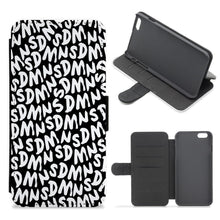 Sidemen - Black SDMN Pattern Flip / Wallet Phone Case - Fun Cases