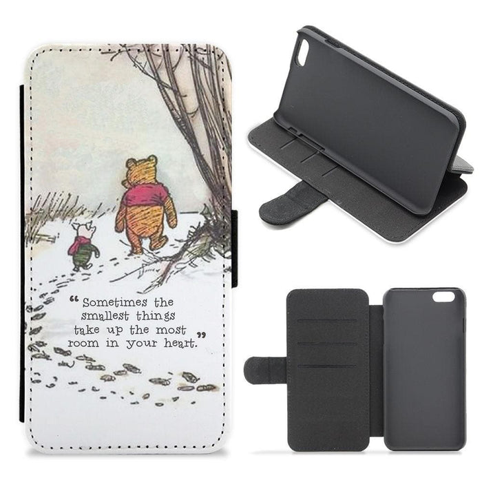 Sometimes The Smallest Things - Winnie The Pooh Flip Wallet Phone Case - Fun Cases