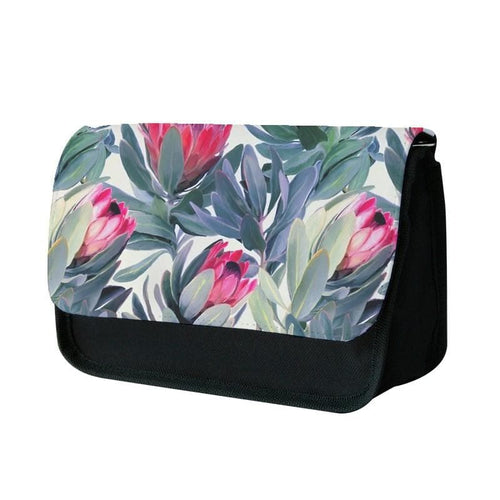 Painted Protea Pattern Pencil Case - Fun Cases