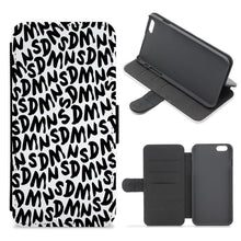Sidemen - White SDMN Pattern Flip / Wallet Phone Case - Fun Cases