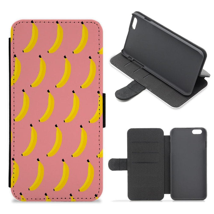 Banana Pattern Flip / Wallet Phone Case - Fun Cases