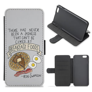 Breakfast Foods - Parks and Recreation Flip Wallet Phone Case - Fun Cases
