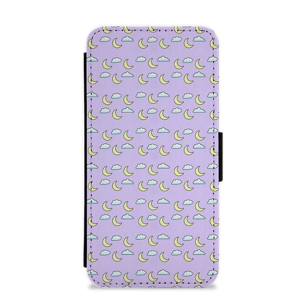 Ariana Grande - Moon and Clouds Flip / Wallet Phone Case - Fun Cases