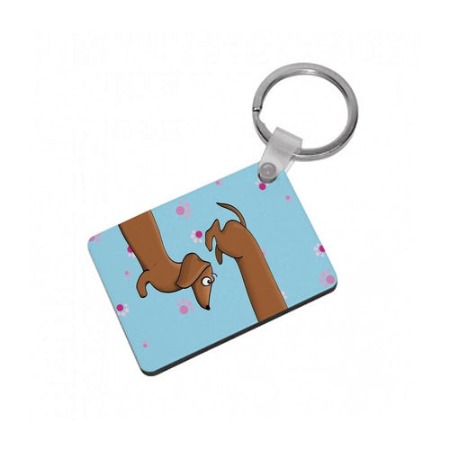 Dachshund 360 Keyring - Fun Cases