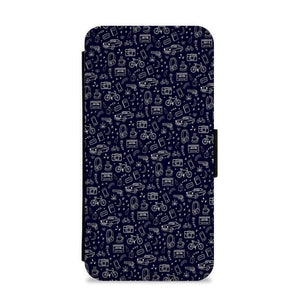 13 Reasons Why Pattern Flip / Wallet Phone Case - Fun Cases