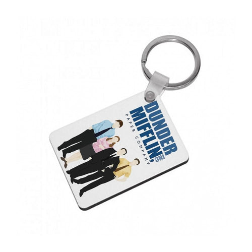 The Office Cartoon - Dunder Mifflin Keyring - Fun Cases