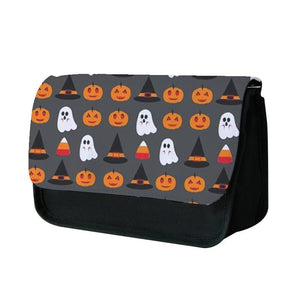 Pumpkin, Ghost, Candy Repeat Pencil Case
