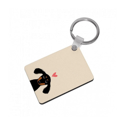 Dachshund Puppy Love Keyring - Fun Cases