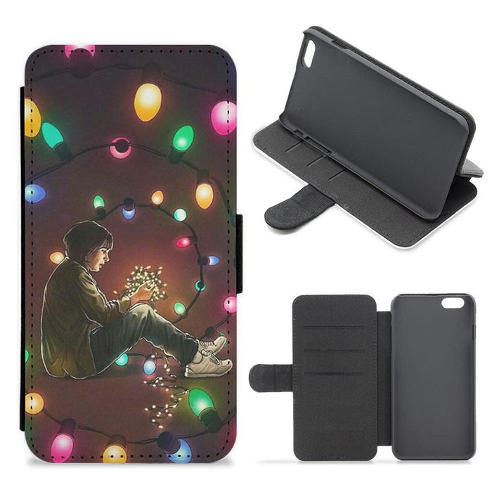 Light Swirl - Stranger Thnigs Flip Wallet Phone Case - Fun Cases