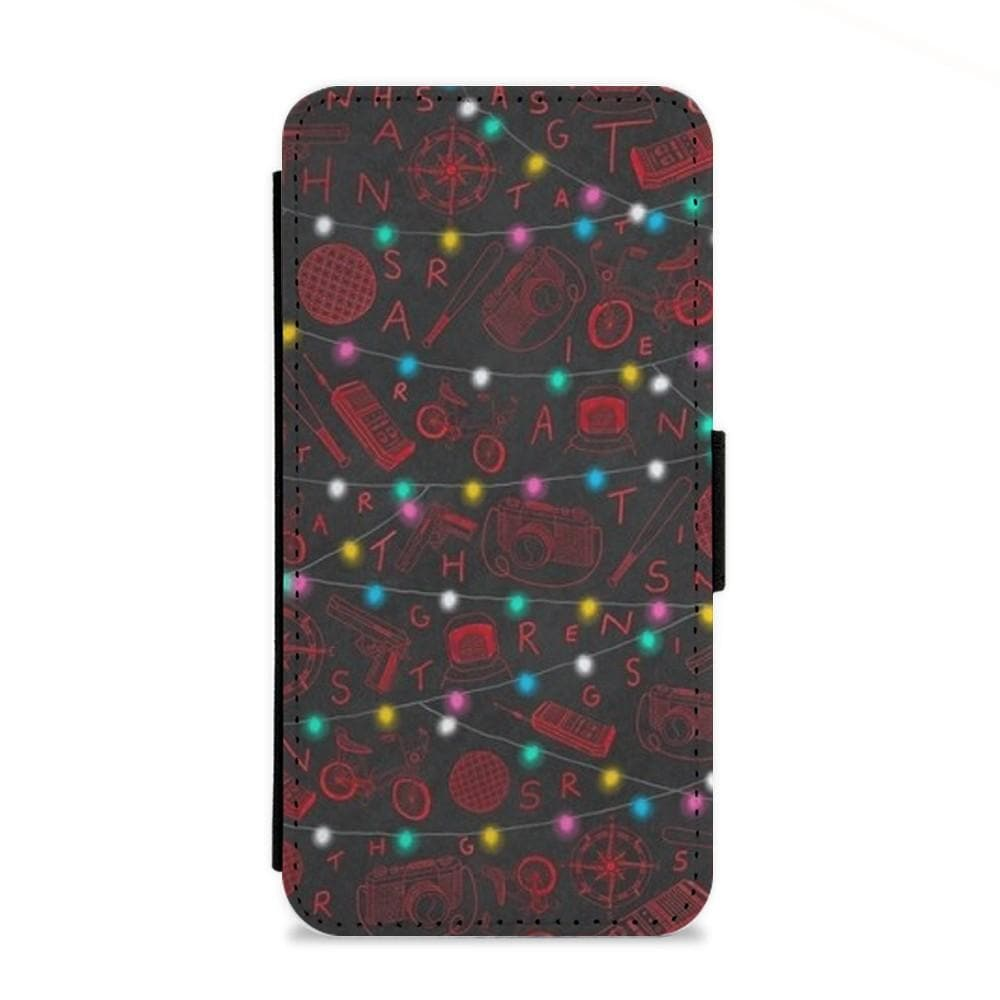 Stranger Things Red Illustrations Flip Wallet Phone Case - Fun Cases