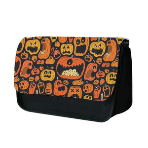Scary Pumpkin Halloween Pattern Pencil Case
