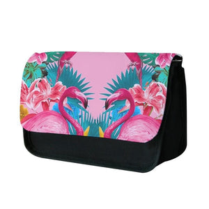 Flamingo and Tropical garden Pencil Case - Fun Cases