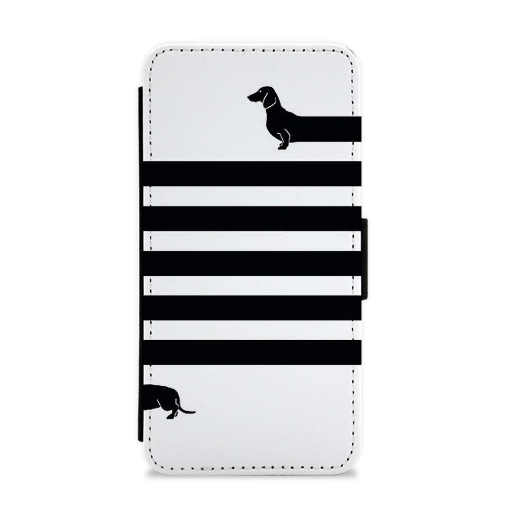 Dachshund Wrapped Flip / Wallet Phone Case - Fun Cases