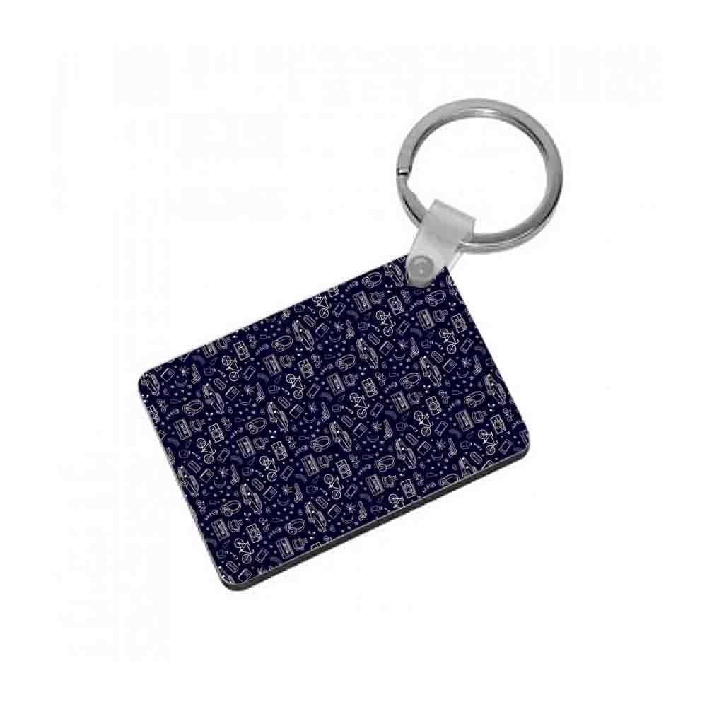 13 Reasons Why Pattern Keyring - Fun Cases