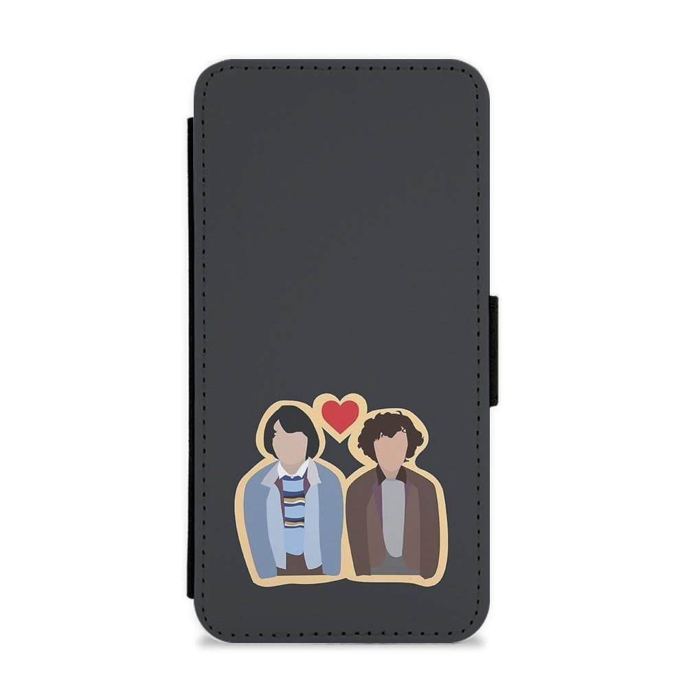 Mike and Eleven - Stranger Things Flip / Wallet Phone Case - Fun Cases