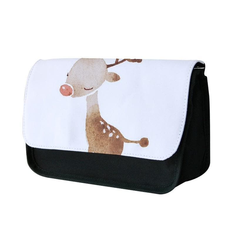 Watercolour Rudolph The Reindeer Pencil Case
