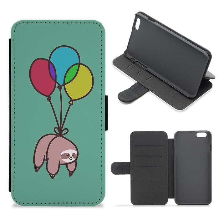 Balloon Sloth Flip Wallet Phone Case - Fun Cases