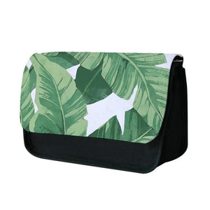 Tropical Banana Leaf Pattern Pencil Case