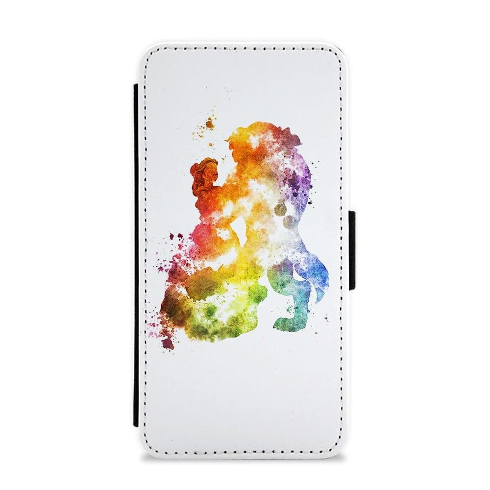 Watercolour Beauty and the Beast Disney Flip / Wallet Phone Case - Fun Cases