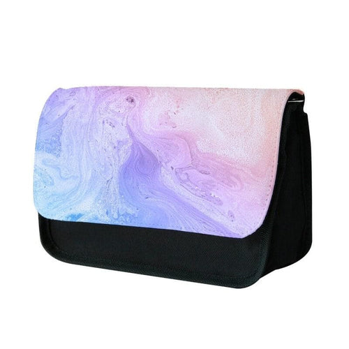 Blue and Peach Marble Pencil Case - Fun Cases