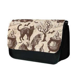 Vintage Halloween Pattern Pencil Case
