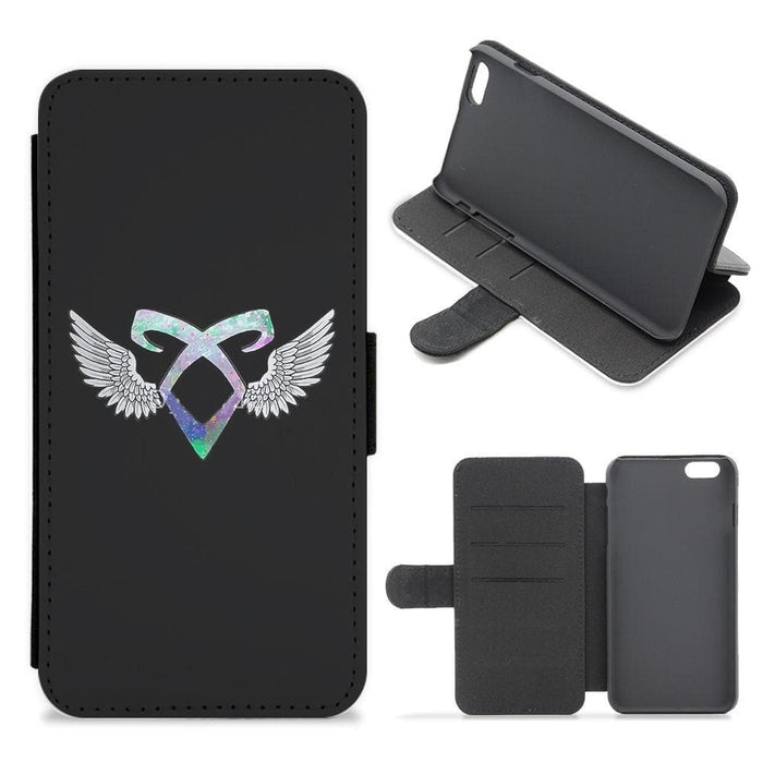 Shadowhunters Galaxy Rune Logo Flip Wallet Phone Case - Fun Cases
