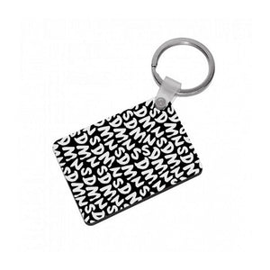 Sidemen - Black SDMN Pattern Keyring - Fun Cases