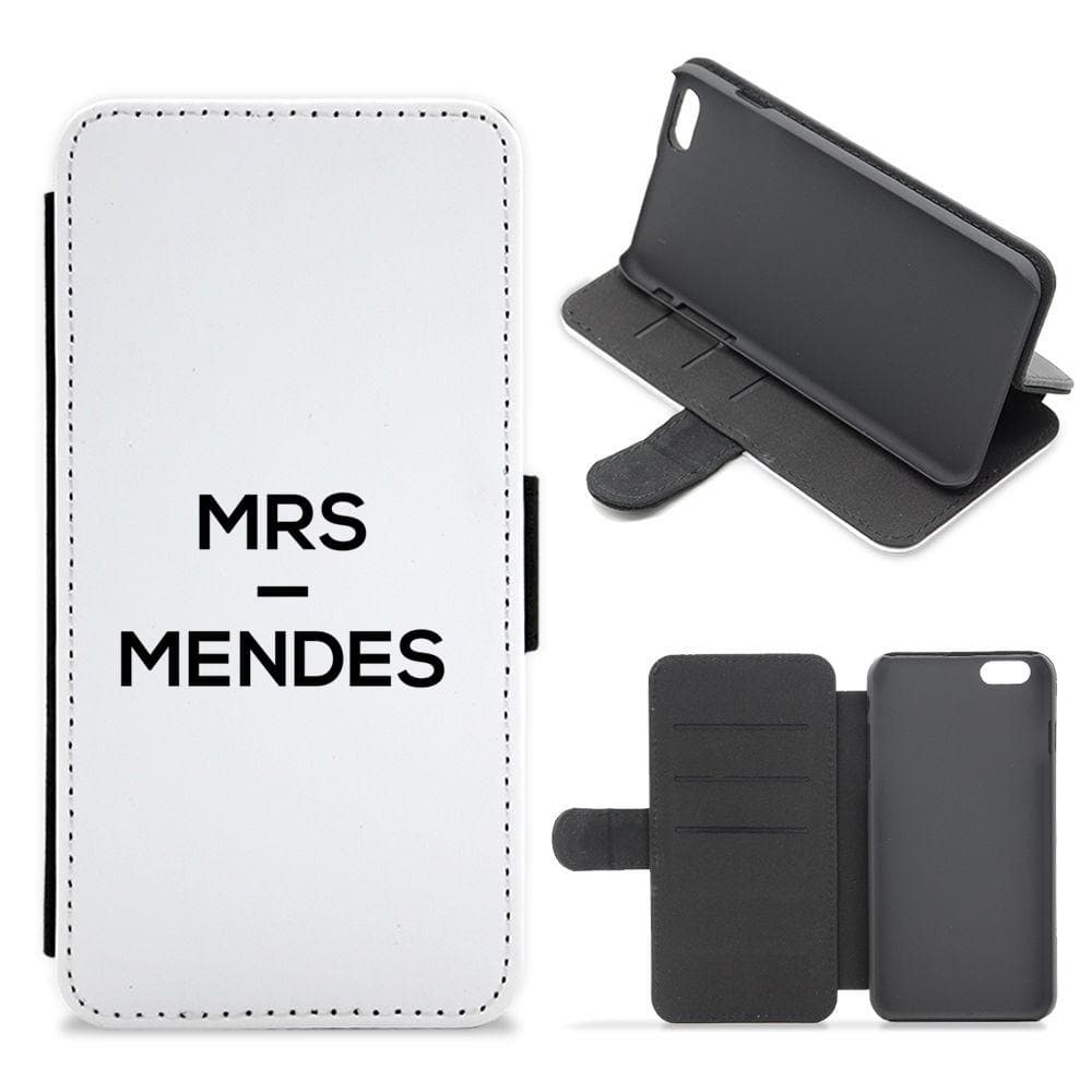 Mrs Mendes - Shawn Mendes Flip / Wallet Phone Case - Fun Cases