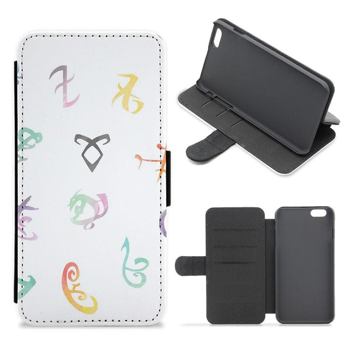 Watercolour Runes - Shadowhunters Flip Wallet Phone Case - Fun Cases